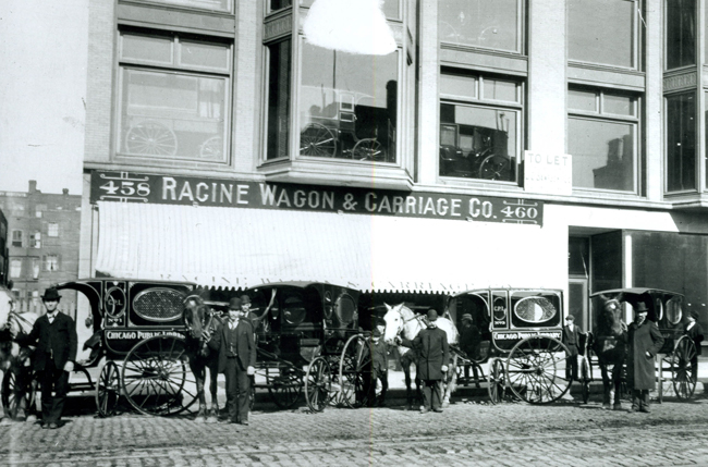 Racine Wagon & Carriage Co. delivery station