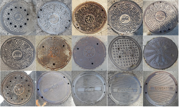 15 different manhole covers