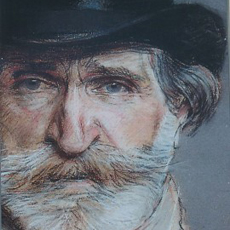 Pastel drawing of Giuseppe Verdi by Giovanni Boldini, 1886