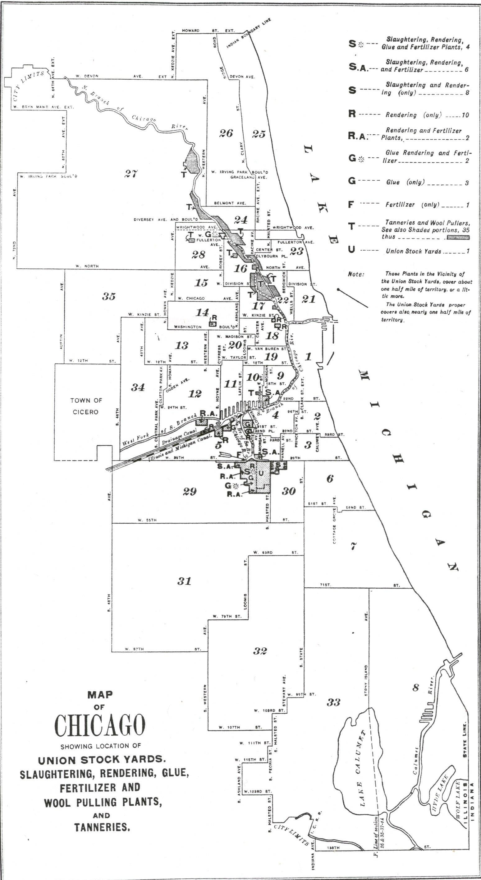 Technology That Changed Chicago Union Stockyards Part One - Chicago union map