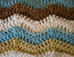 crocheted stitches
