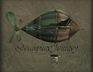 Steampunk Journey dirigible illustration