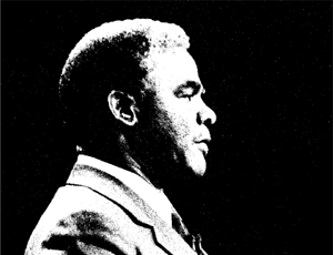 Harold Washington silhouette
