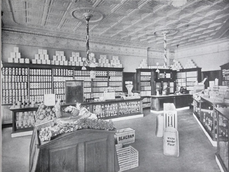 Interior shot of grocery store