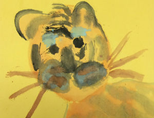painting of tiger by child