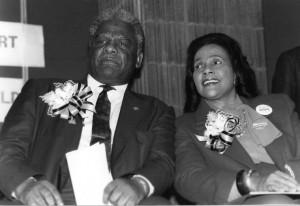 Mayor Harold Washington with Coretta Scott King