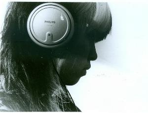 teen wearing headphones