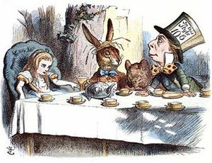 Alice in Wonderland, John Tenniel, 1865. Source: Wikimedia Commons, public domain