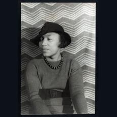 Black and white photo of Zora Neale Hurston