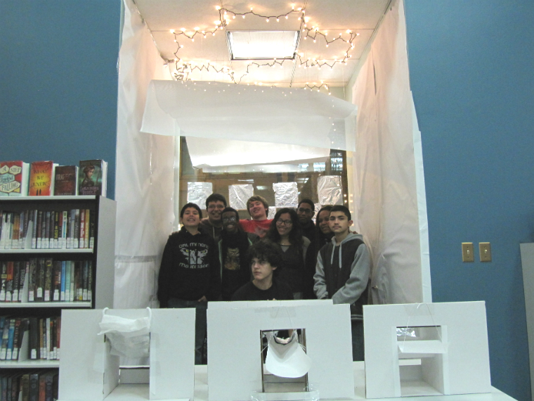 group of teens in YOUmedia