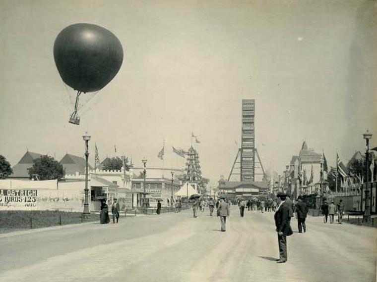 ferris wheel and balloon