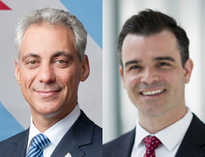 Mayor Rahm Emanuel, Library Commissioner Brian Bannon
