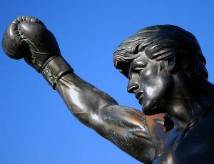 Statue of Rocky Balboa