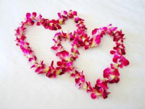Flowers shaped like hearts