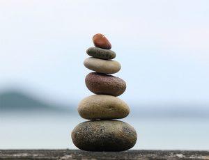 balanced tower of small rocks