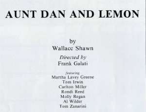 program Aunt Dan and Lemon