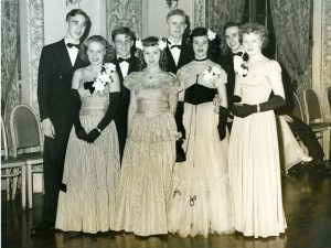 teens couples at a dance, 1946