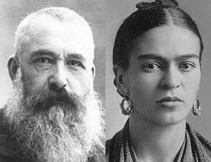 Claude Monet, Frida Kahlo