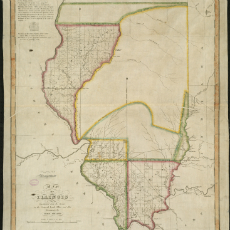 Map of Illinois from 1818