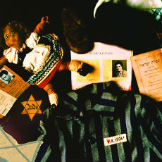Holocaust artifact collage