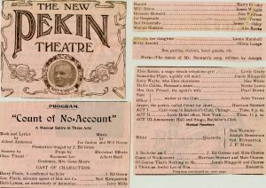 New Pekin Theatre, Count of no-account [date unknown]
